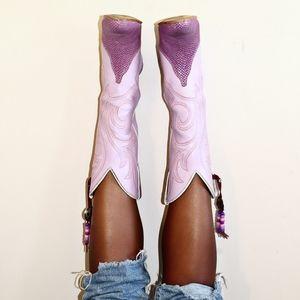 Pretty Lilac Women's Cowboy Boots